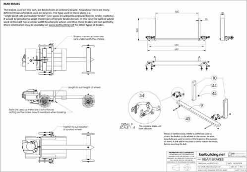 Lawnmower Powered Wooden Go-Kart :: Rear Brakes